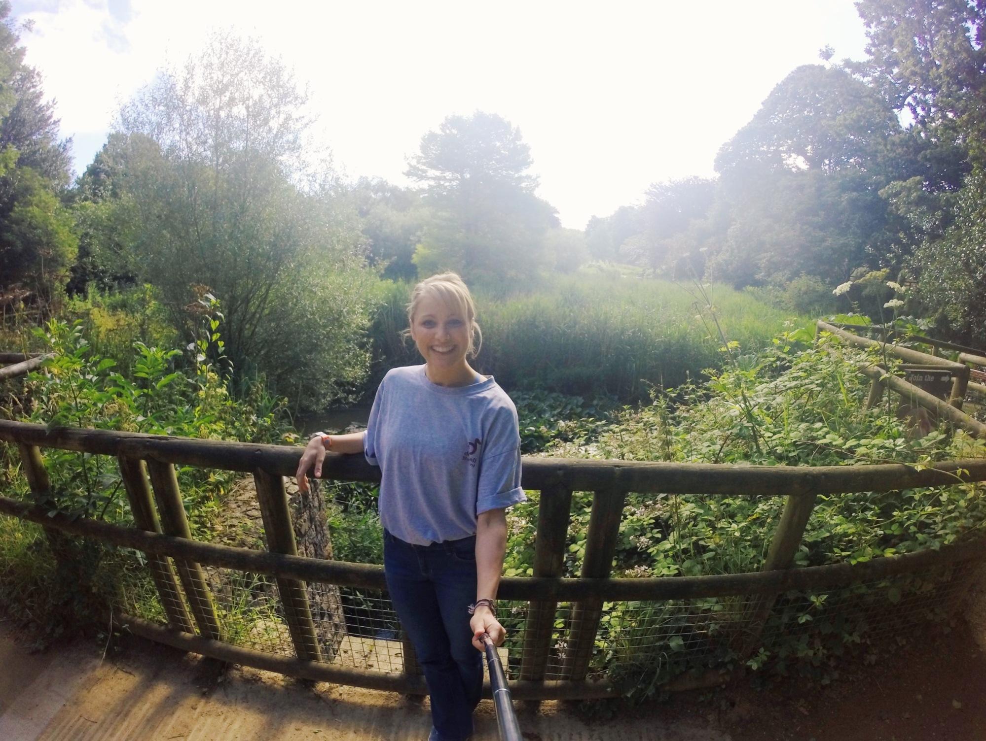 Me at Durrell wildlife park