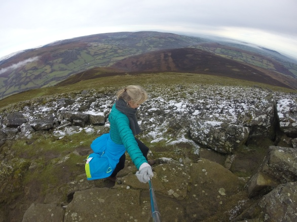 Me climbing Sugar Loaf Mountain in the Brecon Beacons, Wales