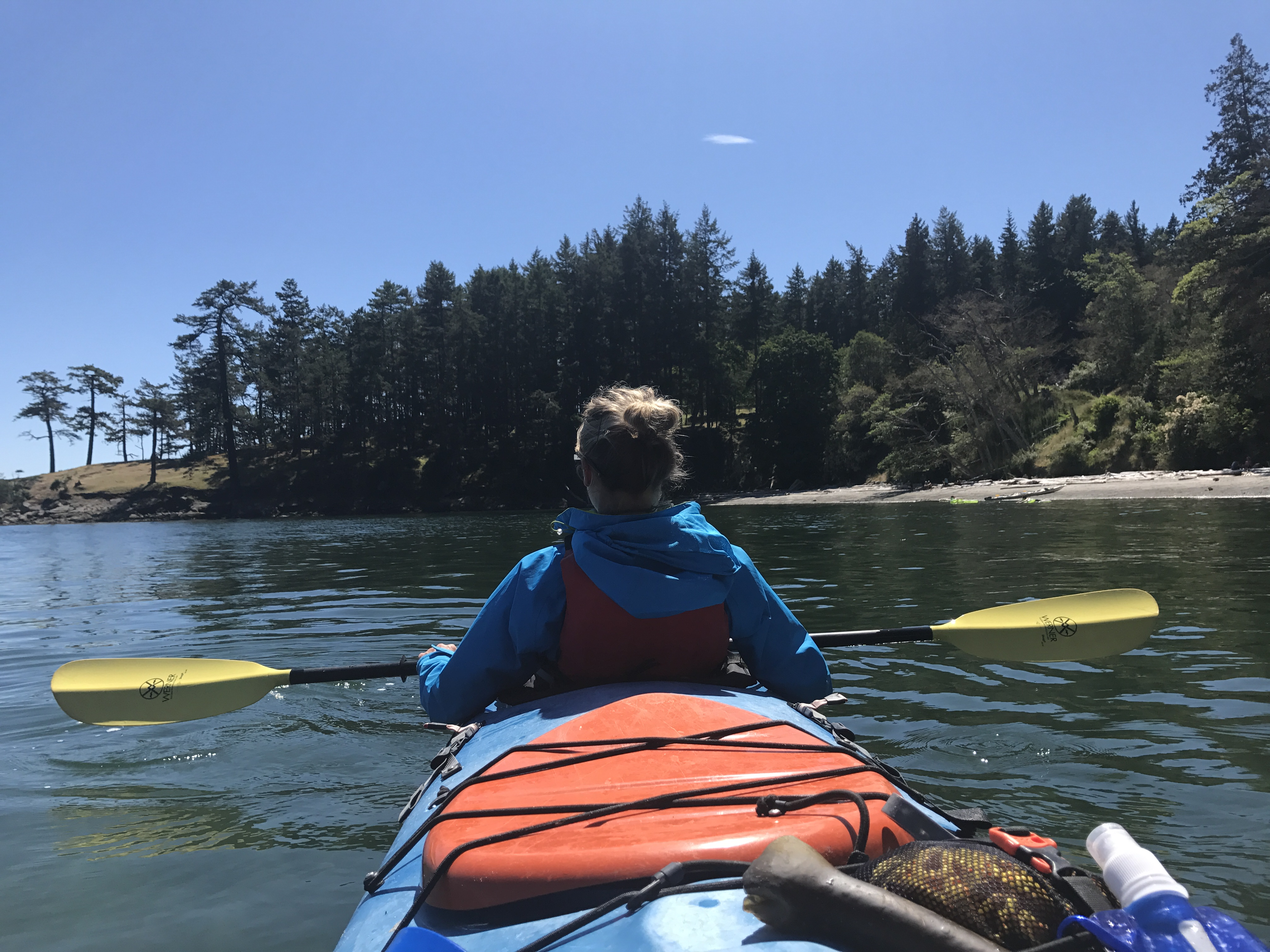 Me kayaking - point of view of the second kayaker.